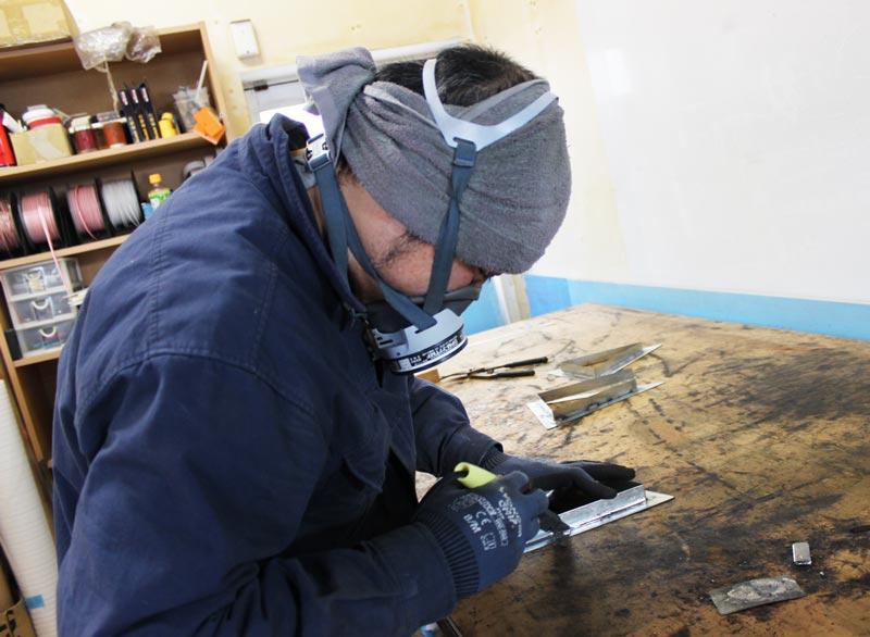 松本市 看板製作のアートプランニング 本日の看板工場