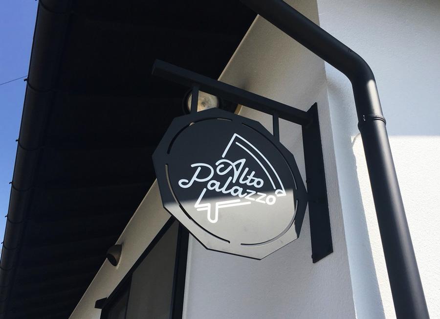 松本 新規オープンイタリアン店の看板を製作しました