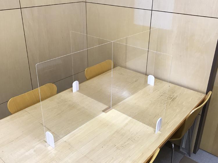 テーブル複数人用|クロスパーテーション
